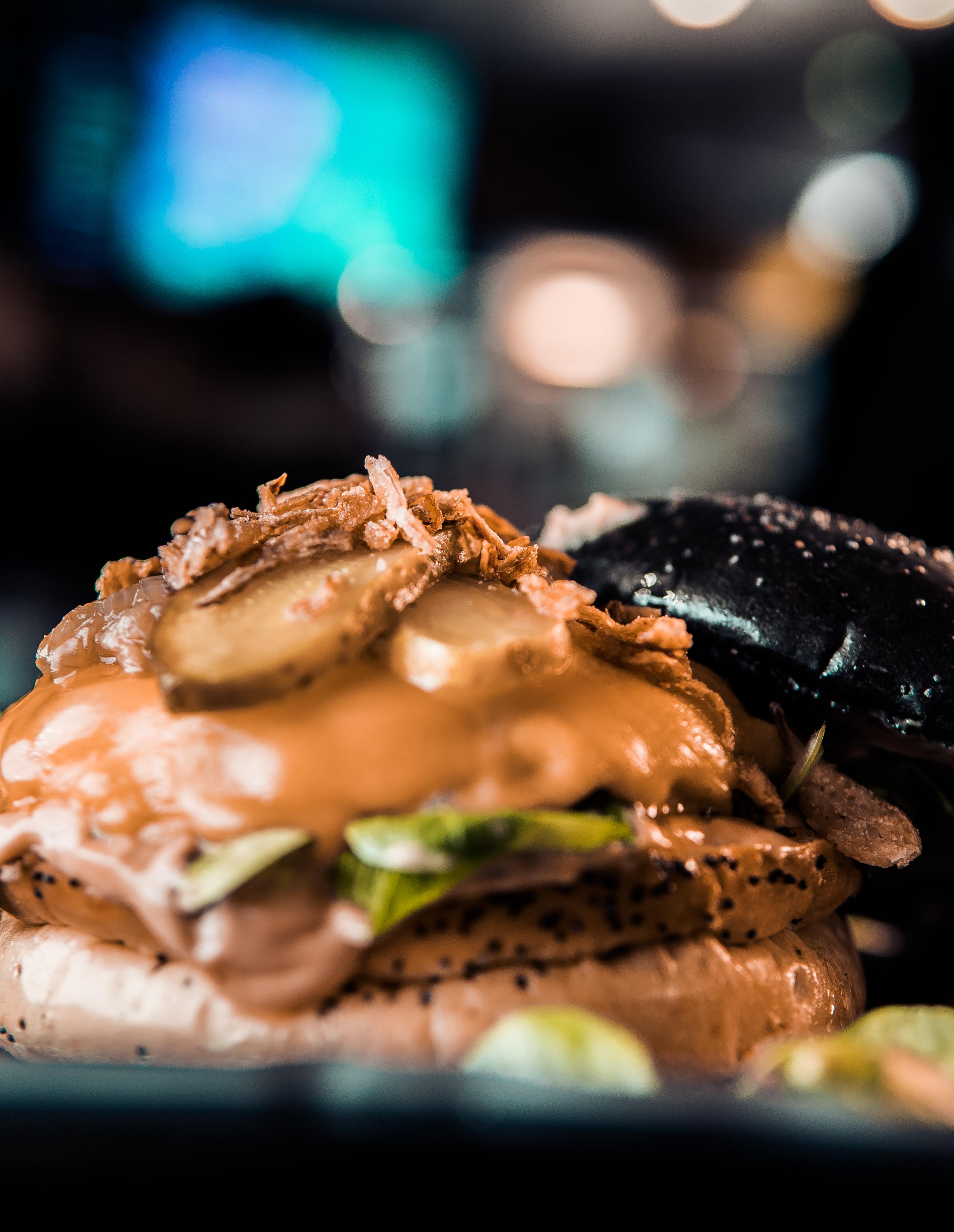 Black and White Burger