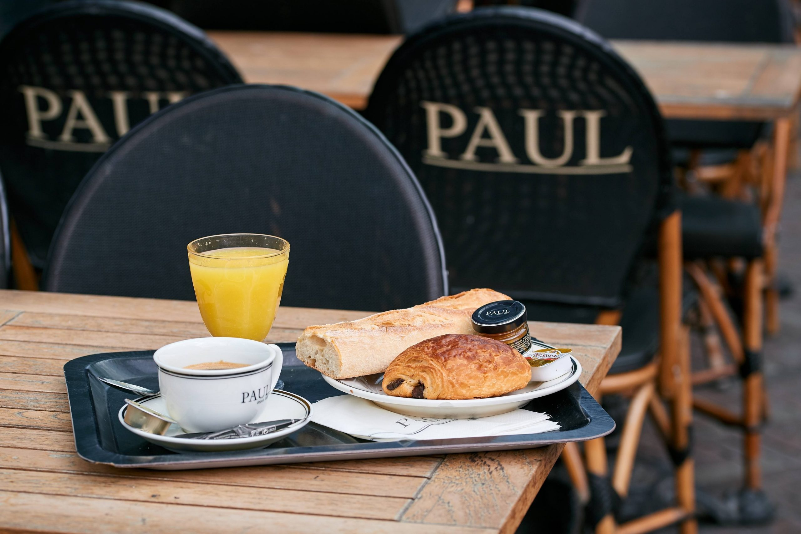 French breakfast at Paul at Docks Bruxsel
