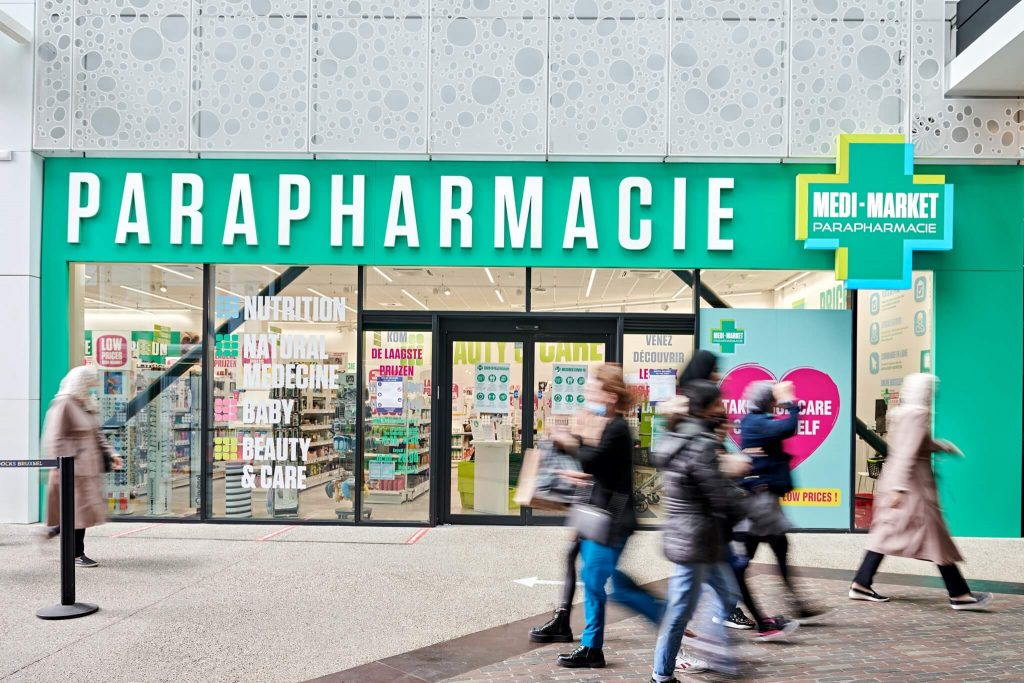 Medi-Marker | Pharmacie en ligne | Docks Bruxsel | New Shopping District