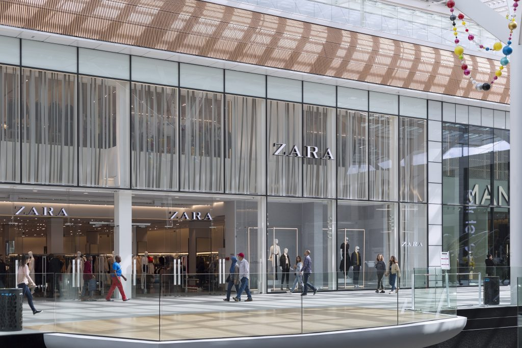 ZARA exteriors at Docks Bruxsel