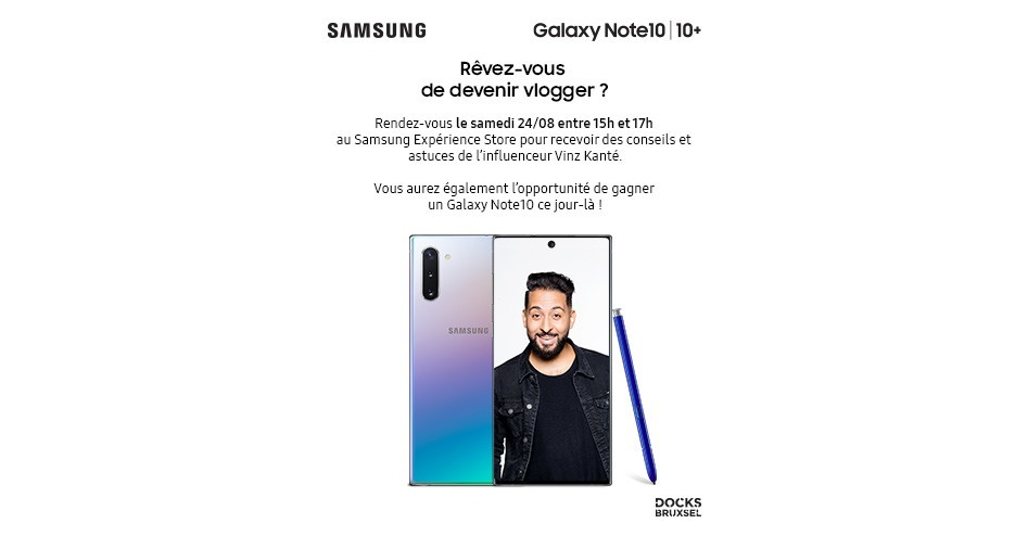Samsung Experience Store - tips and tricks from Vinz Kante